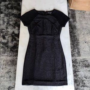 Armani Exchange black textured cocktail dress